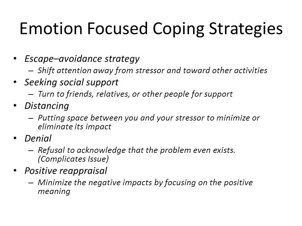 Emotion Focused Coping Strategies