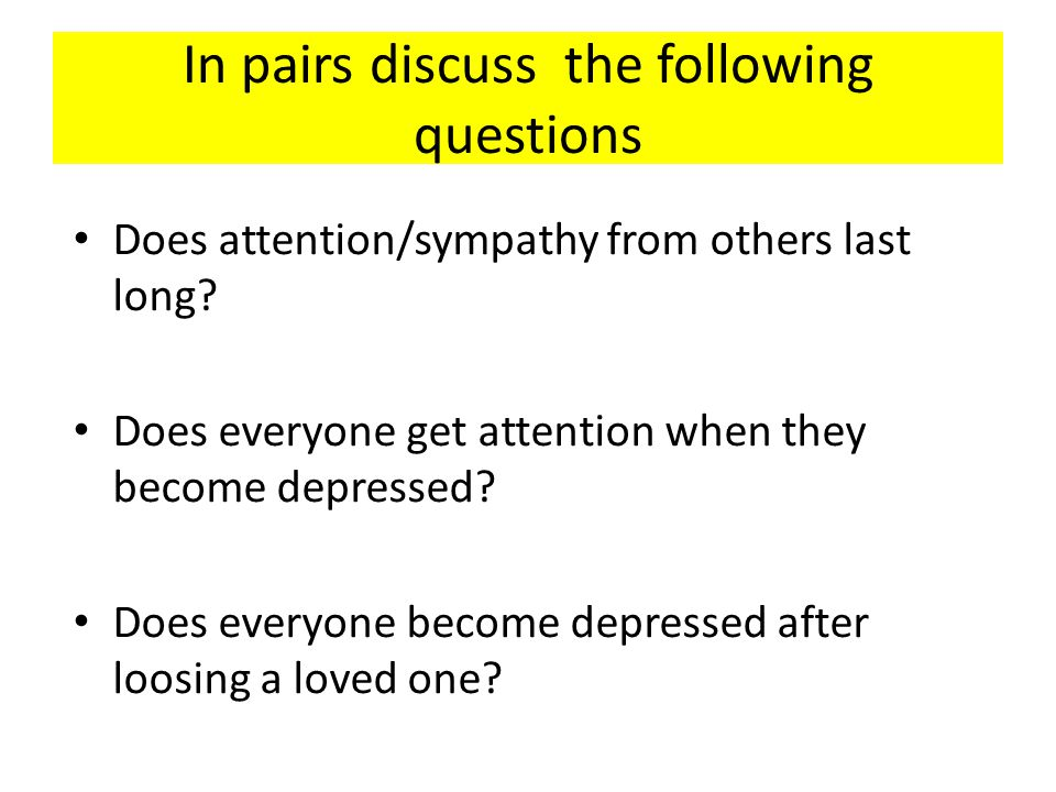In pairs discuss the following questions