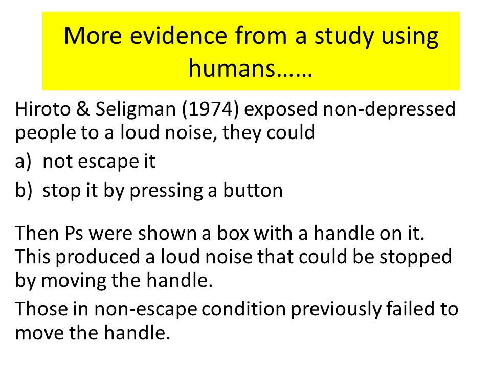 More evidence from a study using humans……