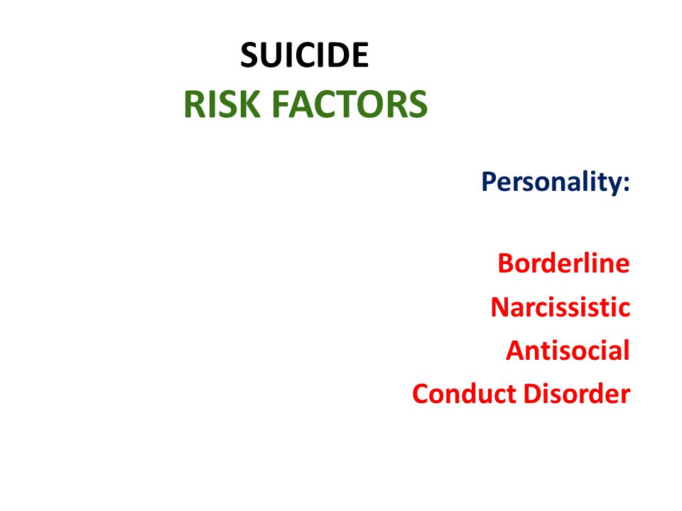 Personality: Borderline Narcissistic Antisocial Conduct Disorder