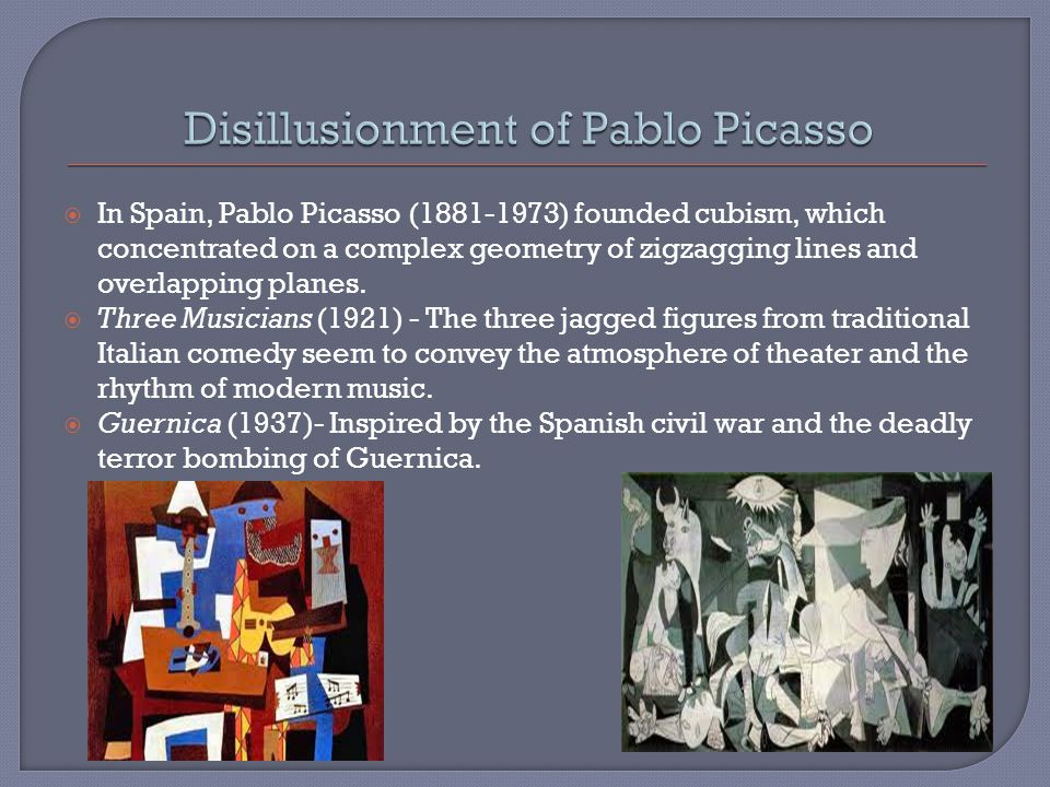 Disillusionment of Pablo Picasso