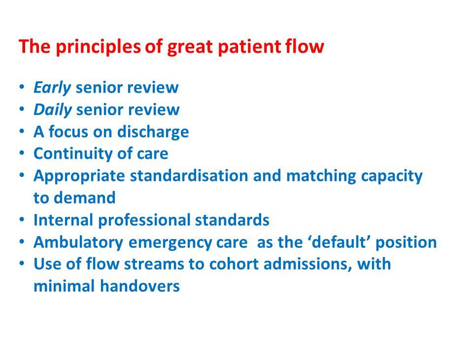 The principles of great patient flow