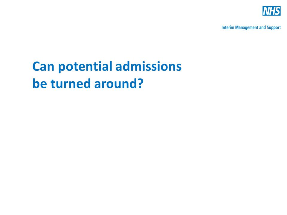 Can potential admissions