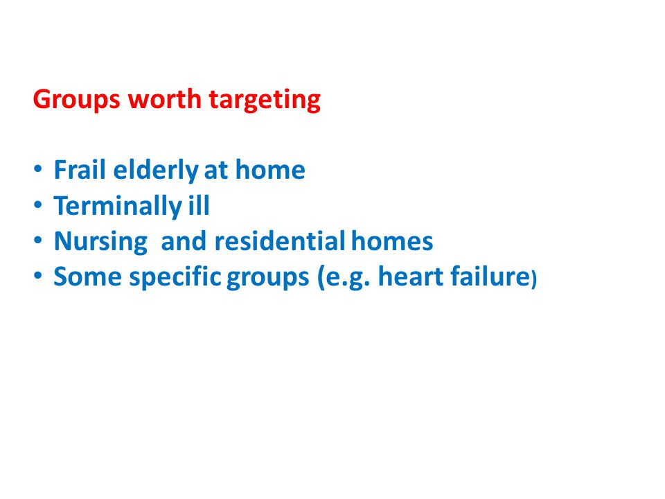 Groups worth targeting