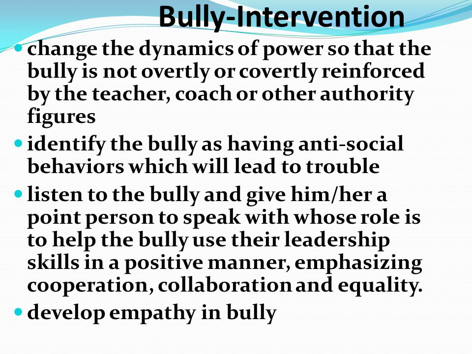 Bully-Intervention