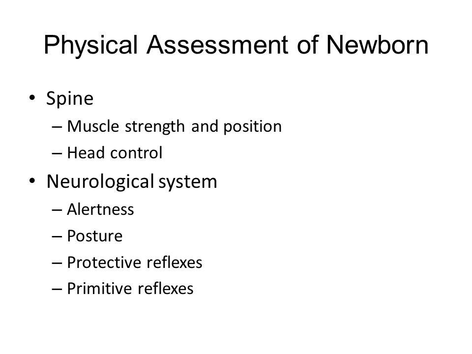 Physical Assessment of Newborn