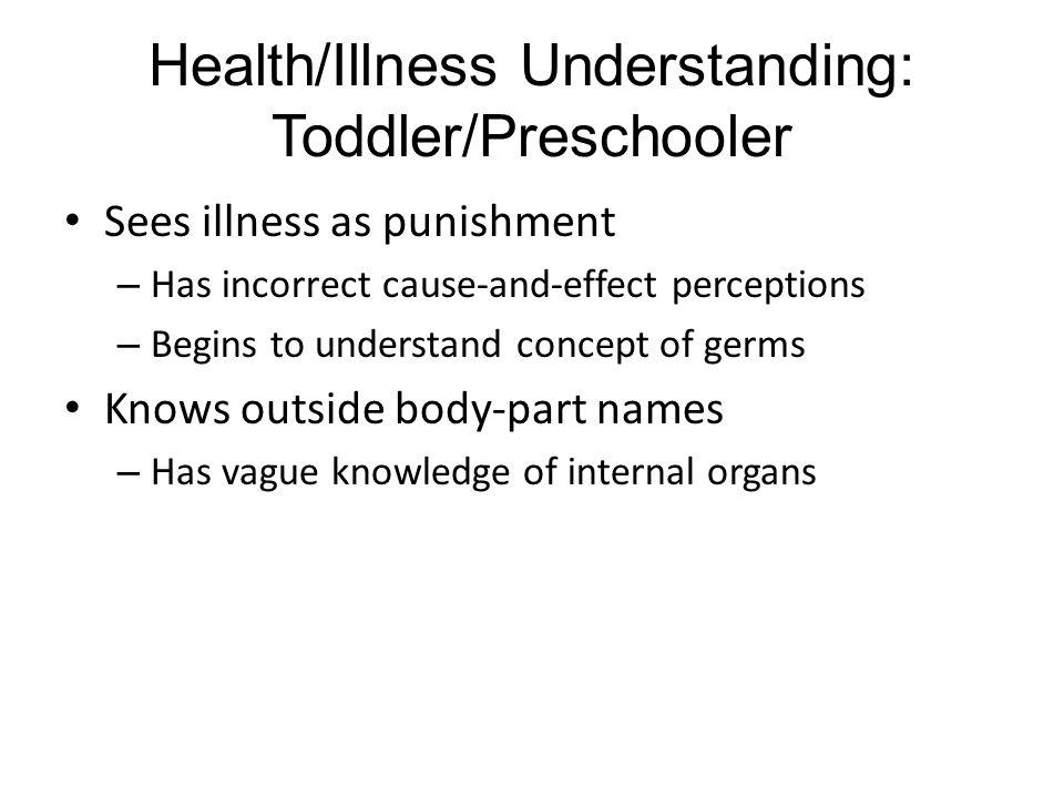 Health/Illness Understanding: Toddler/Preschooler