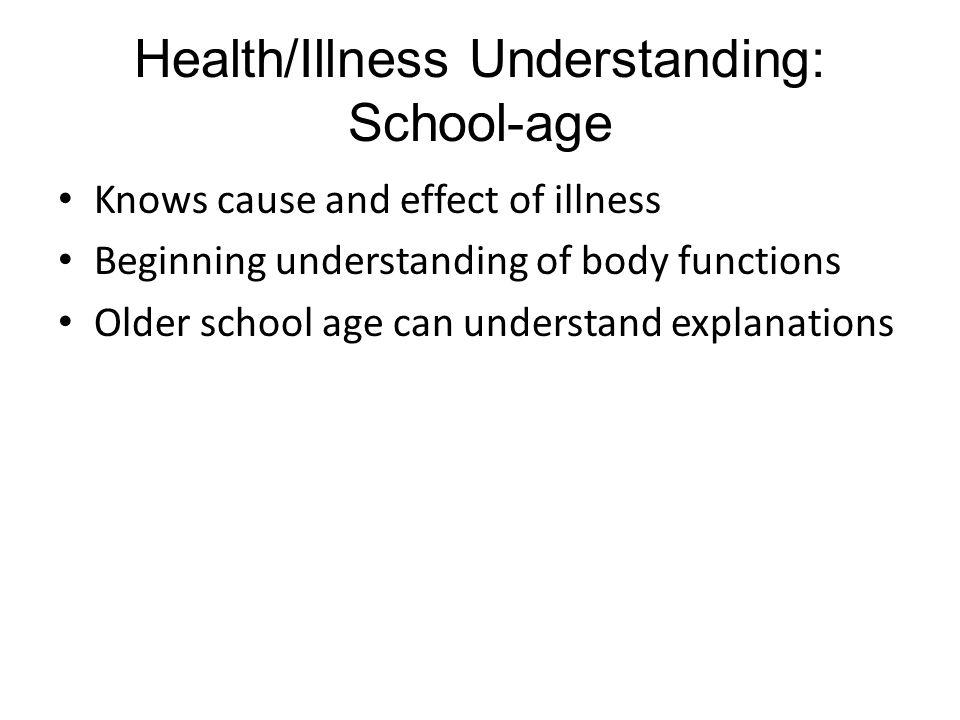 Health/Illness Understanding: School-age