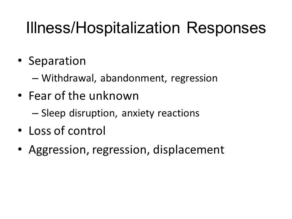 Illness/Hospitalization Responses