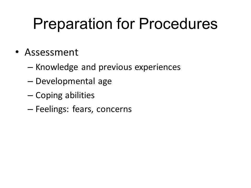Preparation for Procedures