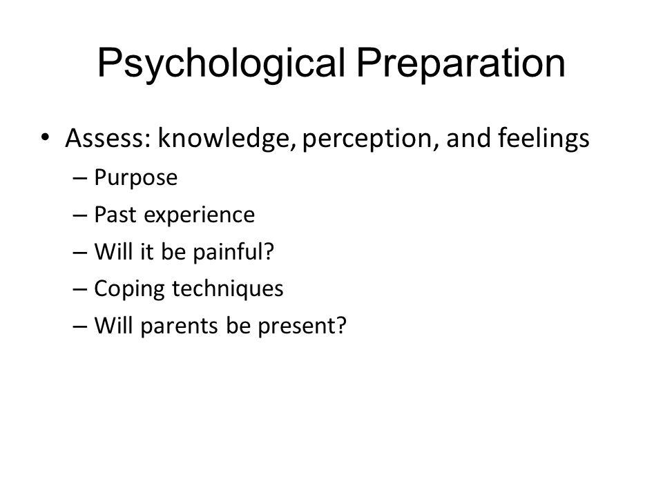 Psychological Preparation