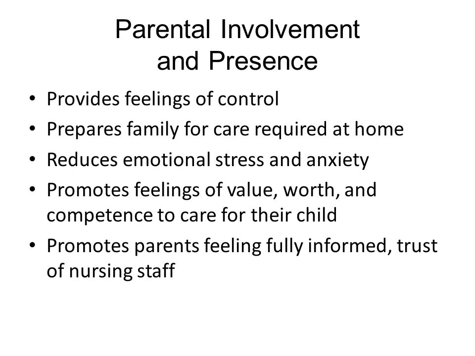 Parental Involvement and Presence