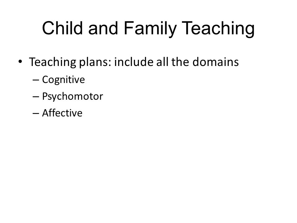 Child and Family Teaching