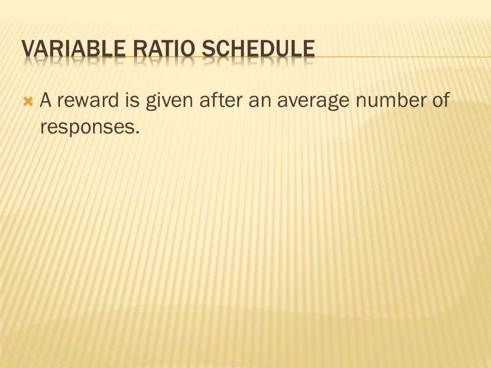 Variable Ratio Schedule