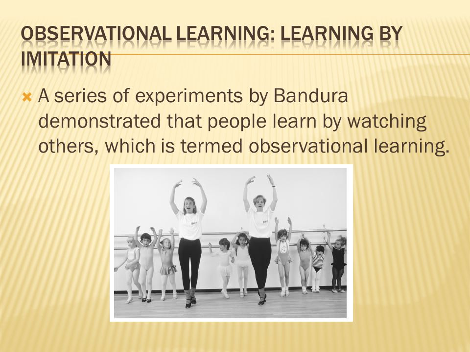 Observational Learning: Learning by Imitation