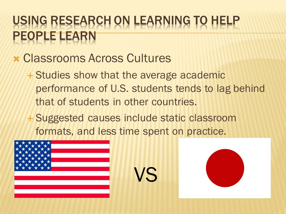 Using Research on Learning to Help people learn