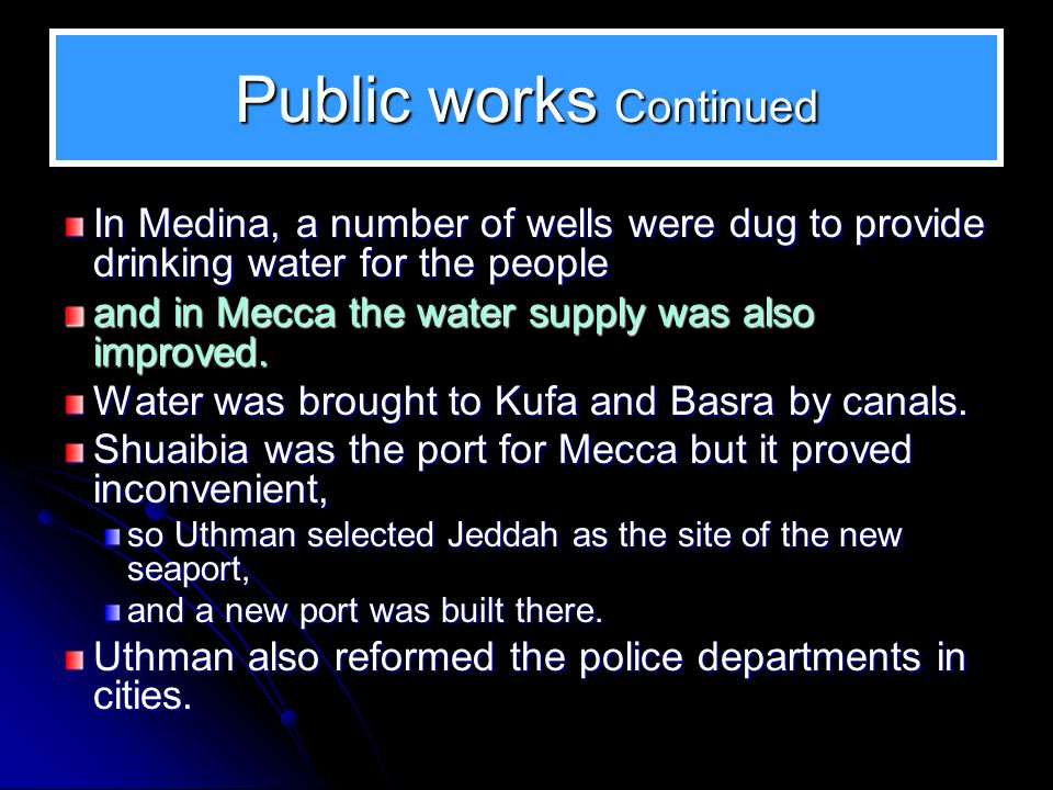Public works Continued
