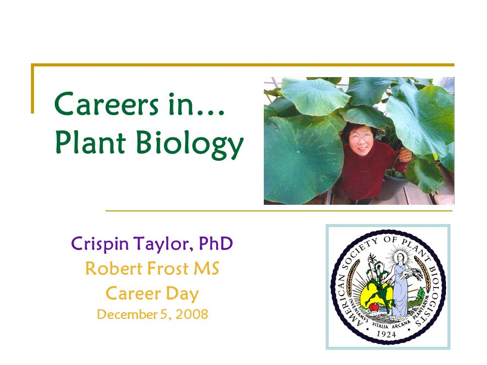 Careers in… Plant Biology