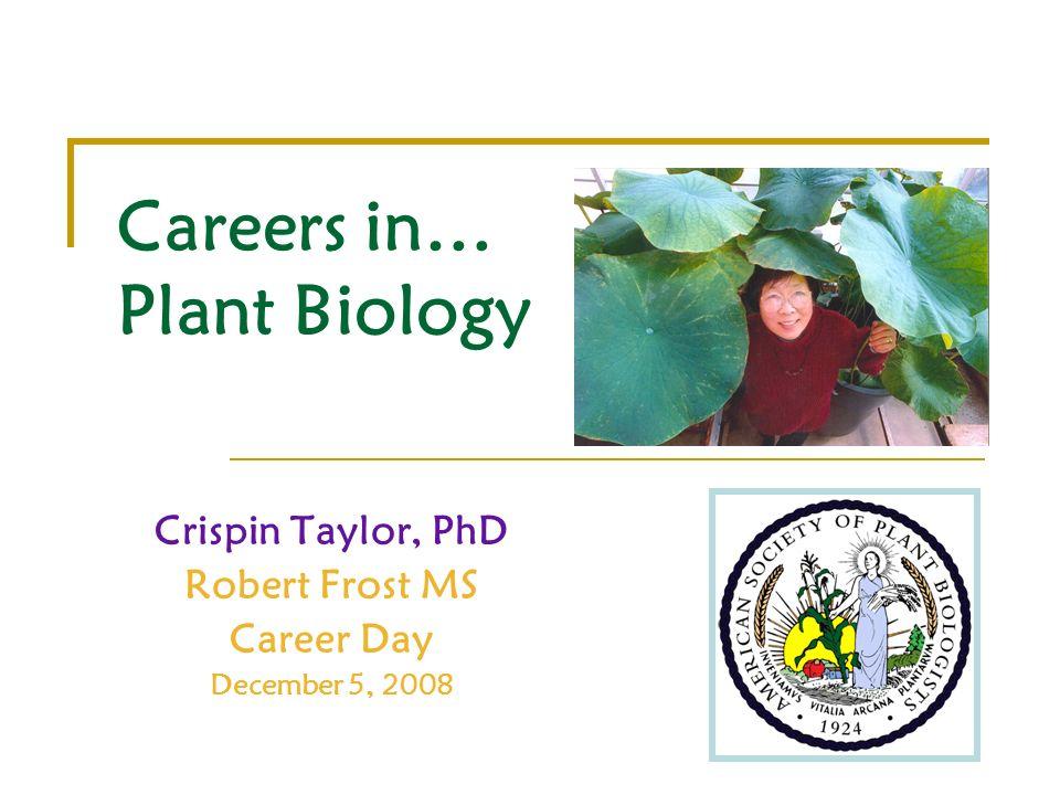 Careers in… Plant Biology