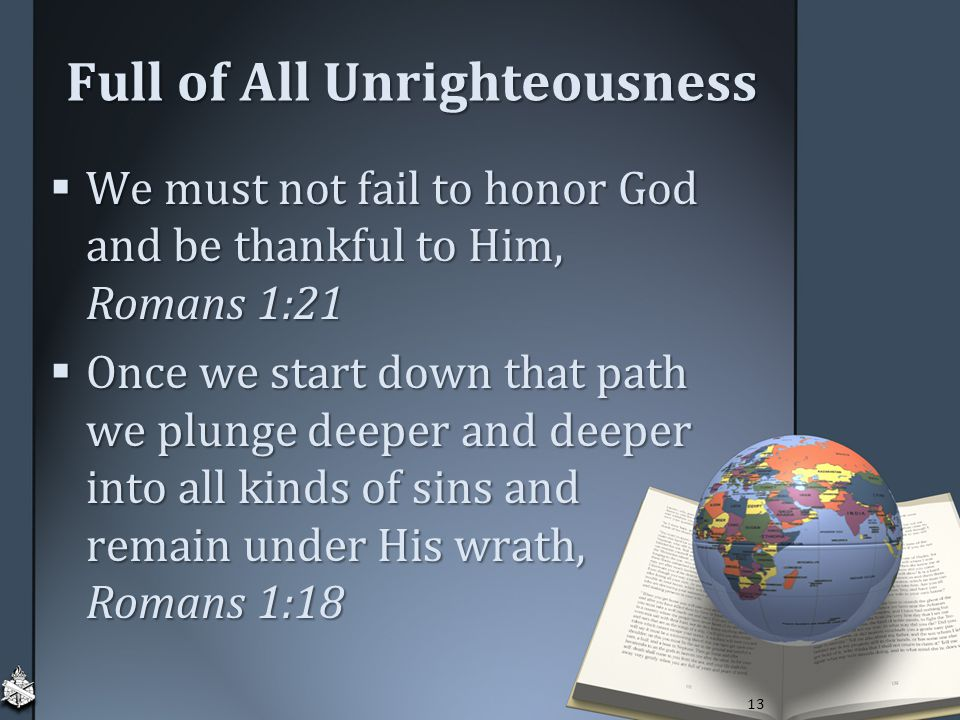 Full of All Unrighteousness