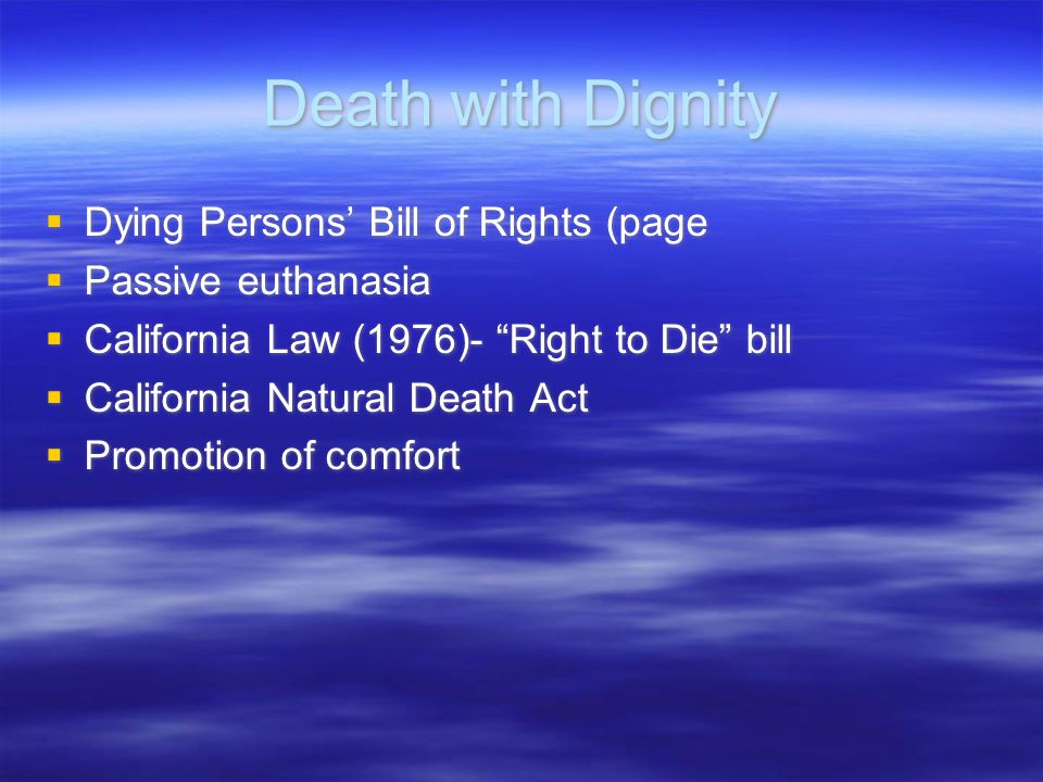 Death with Dignity Dying Persons' Bill of Rights (page