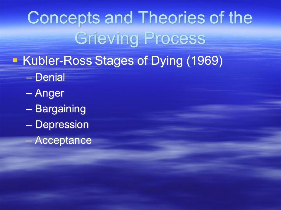 Concepts and Theories of the Grieving Process