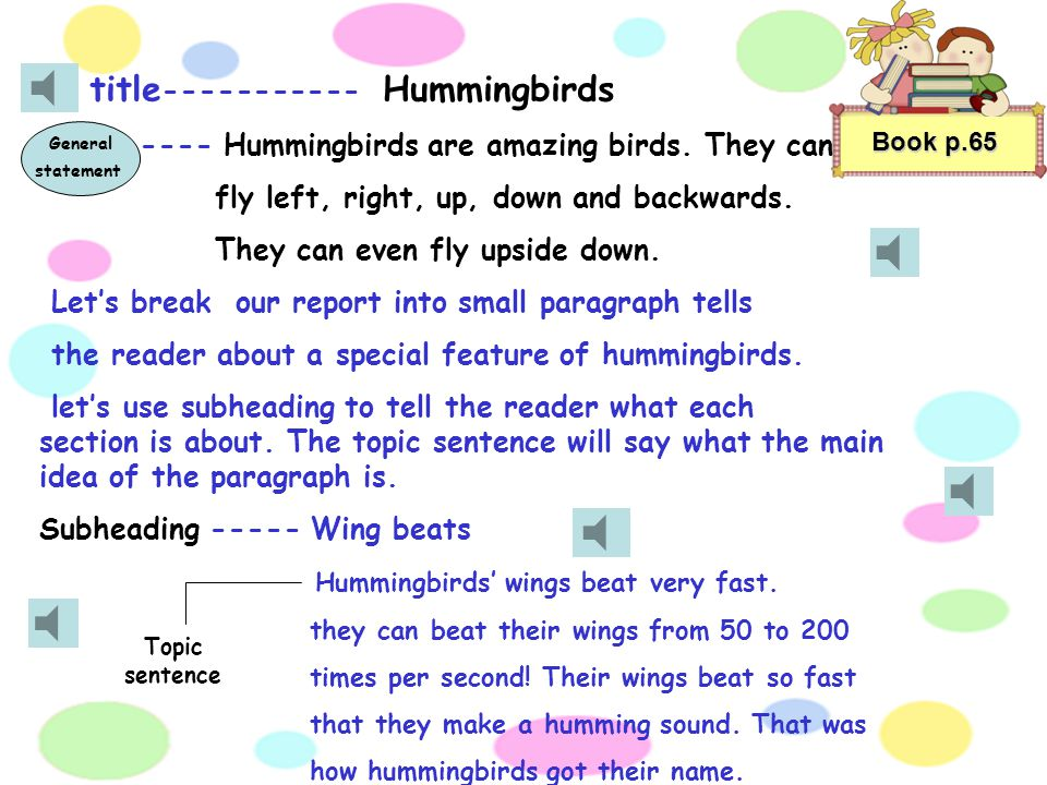title----------- Hummingbirds