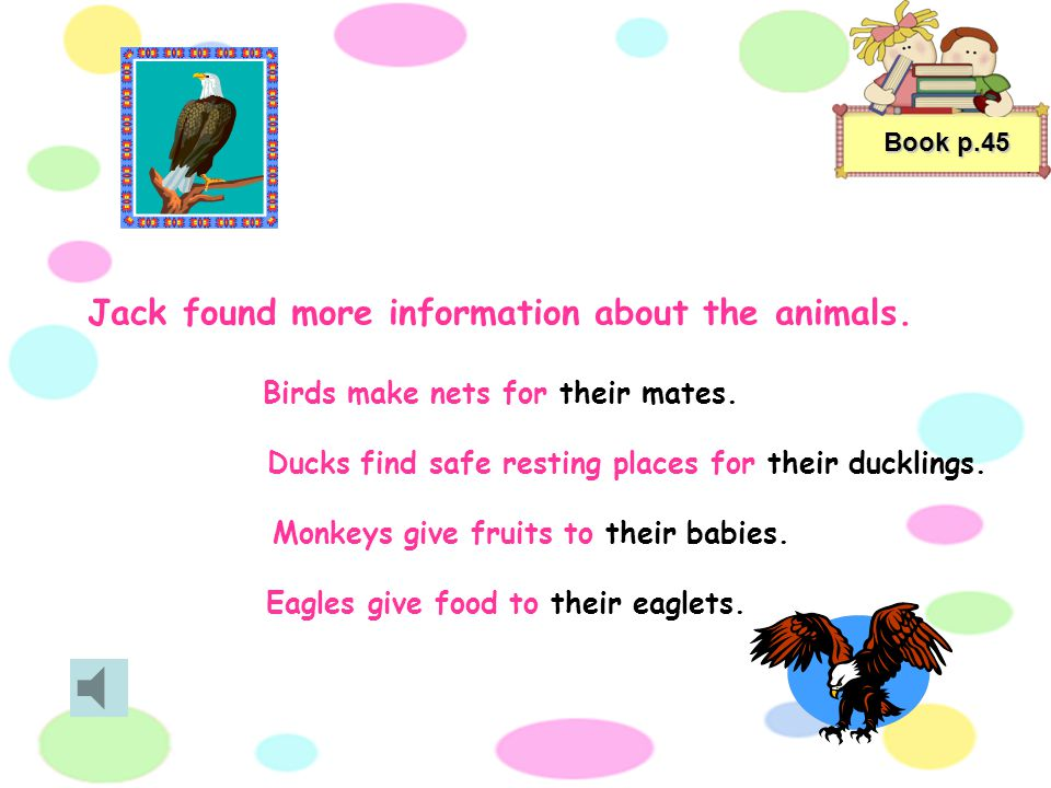 Jack found more information about the animals.