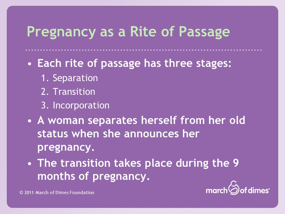 Pregnancy as a Rite of Passage