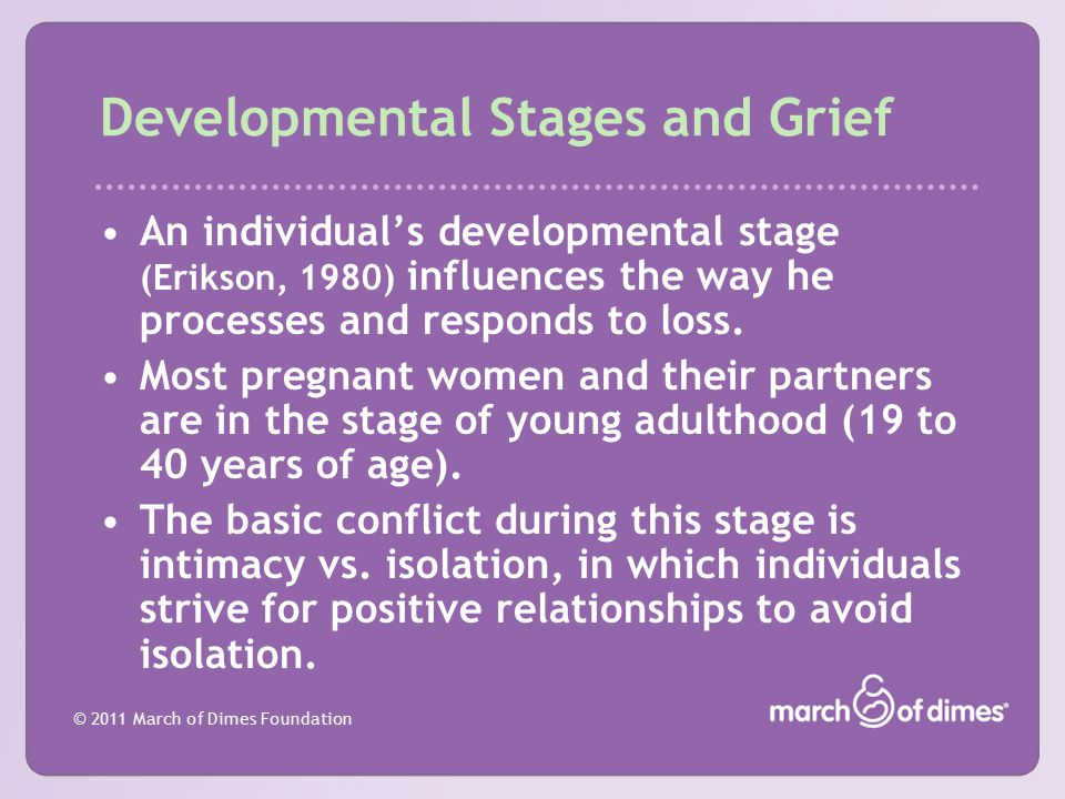 Developmental Stages and Grief