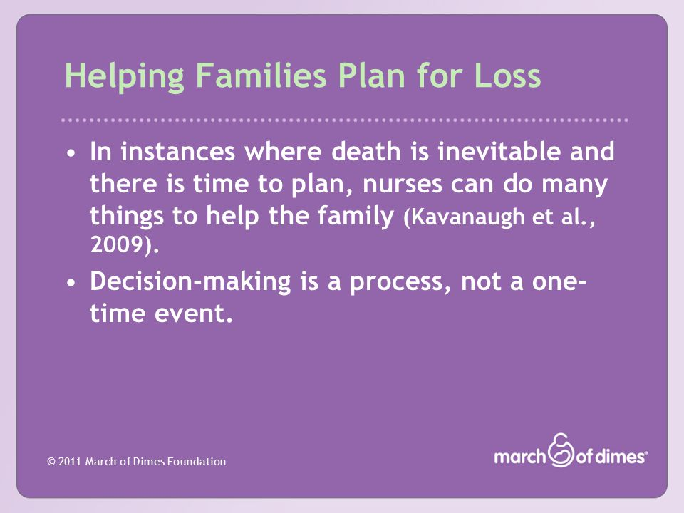Helping Families Plan for Loss