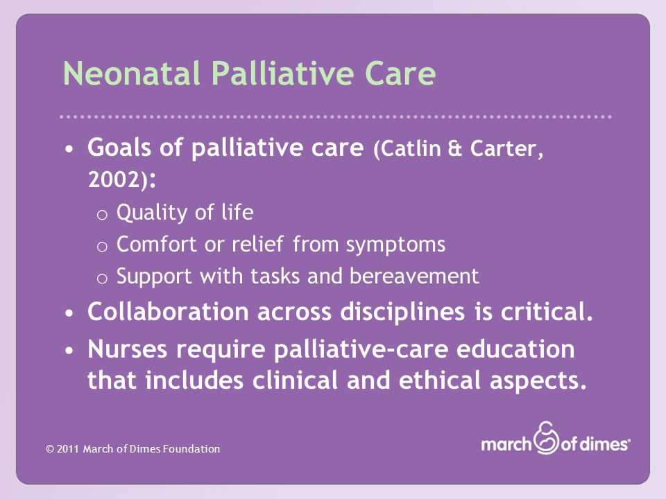 Neonatal Palliative Care