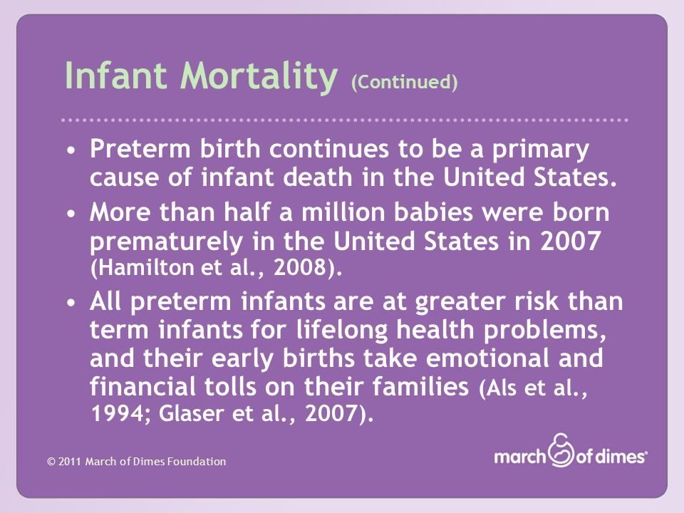 Infant Mortality (Continued)
