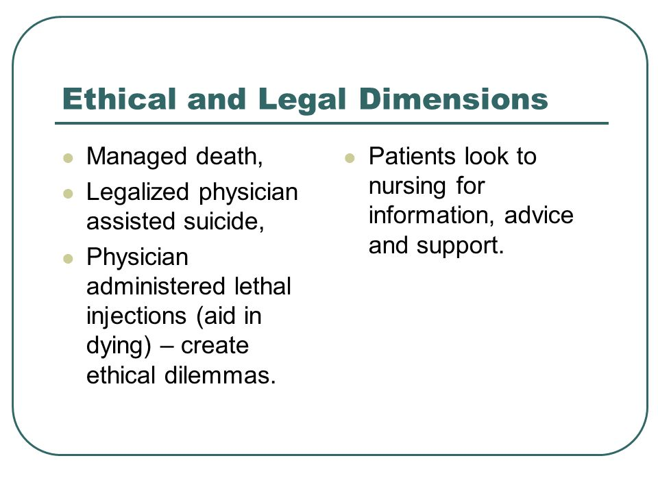 Ethical and Legal Dimensions