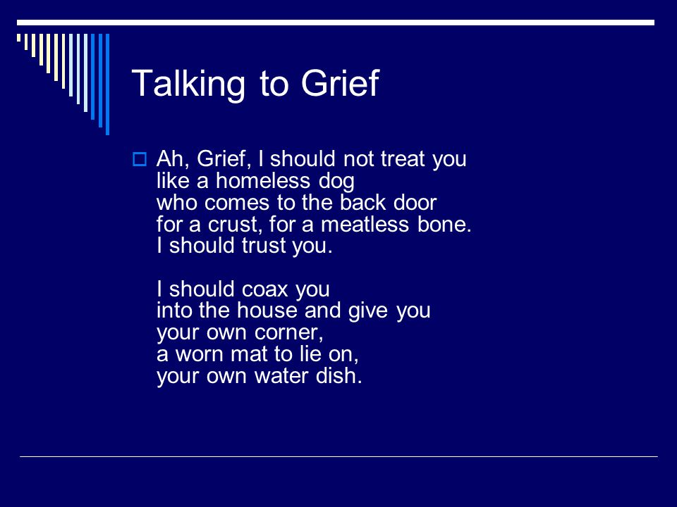 Talking to Grief
