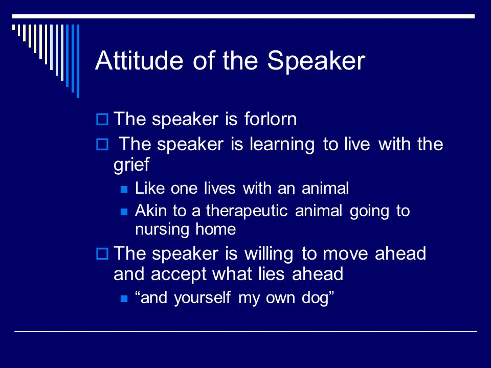 Attitude of the Speaker