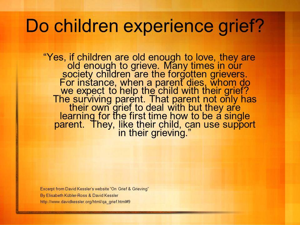 Do children experience grief