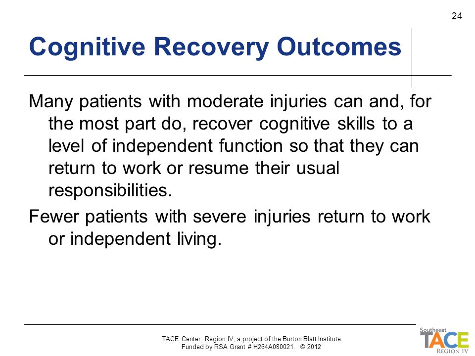 Cognitive Recovery Outcomes