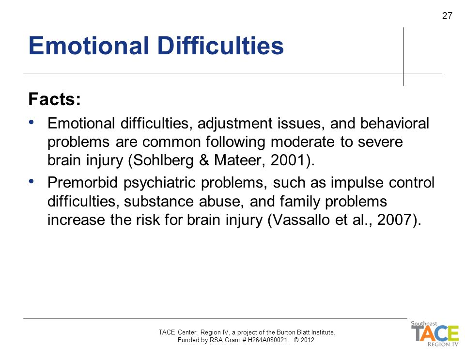 Emotional Difficulties
