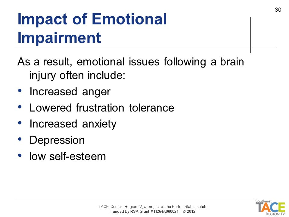 Impact of Emotional Impairment