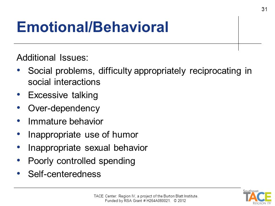 Emotional/Behavioral
