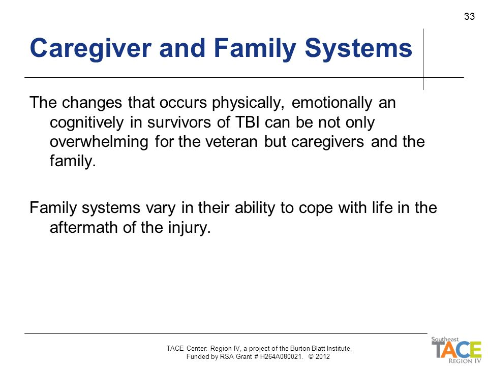 Caregiver and Family Systems