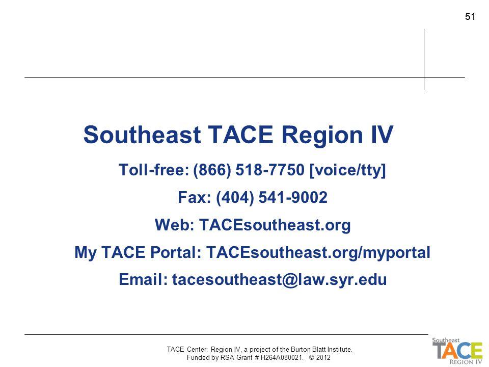 Southeast TACE Region IV