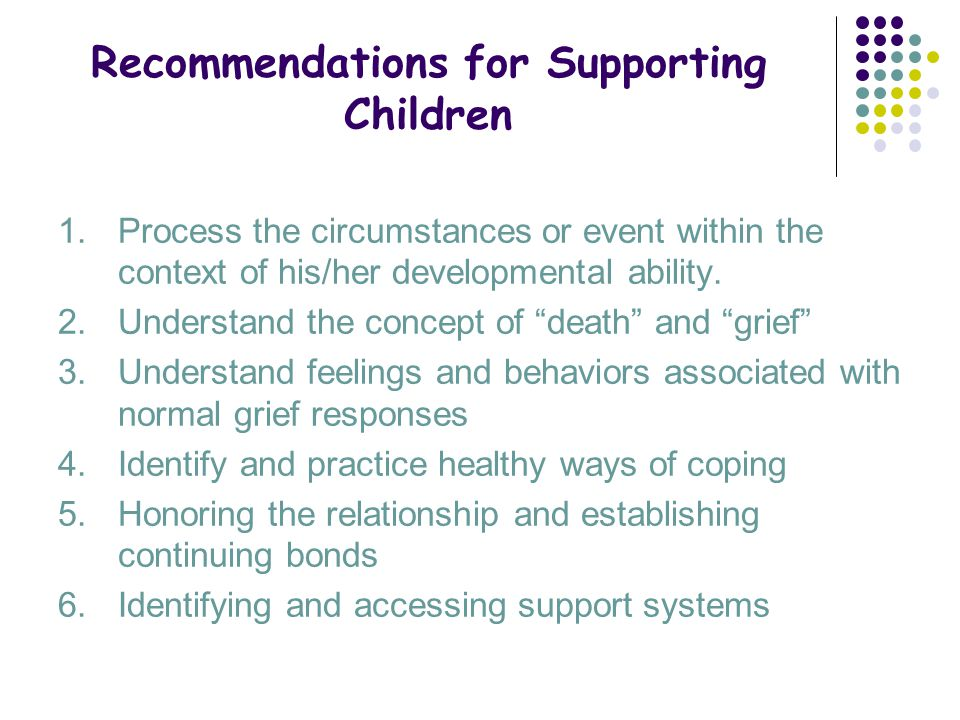 Recommendations for Supporting Children