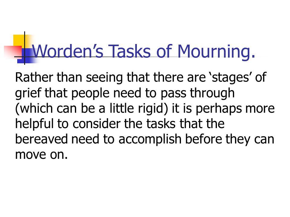 Worden's Tasks of Mourning.
