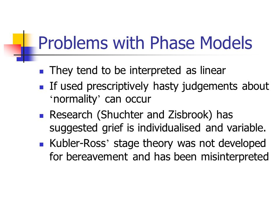 Problems with Phase Models