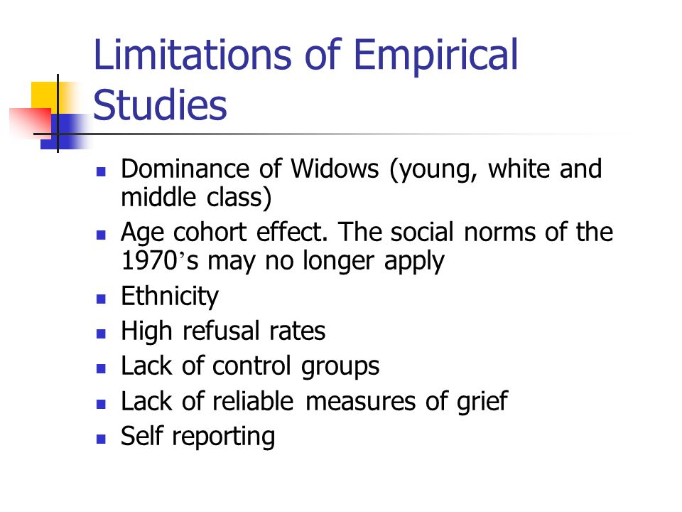Limitations of Empirical Studies