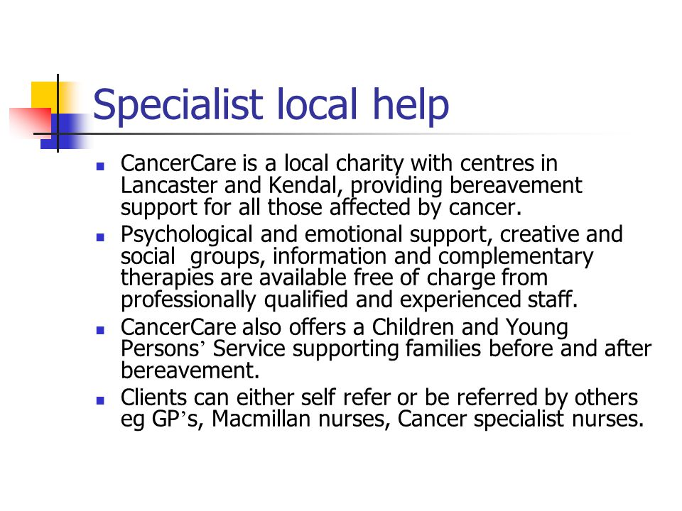 Specialist local help