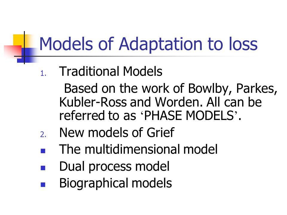 Models of Adaptation to loss