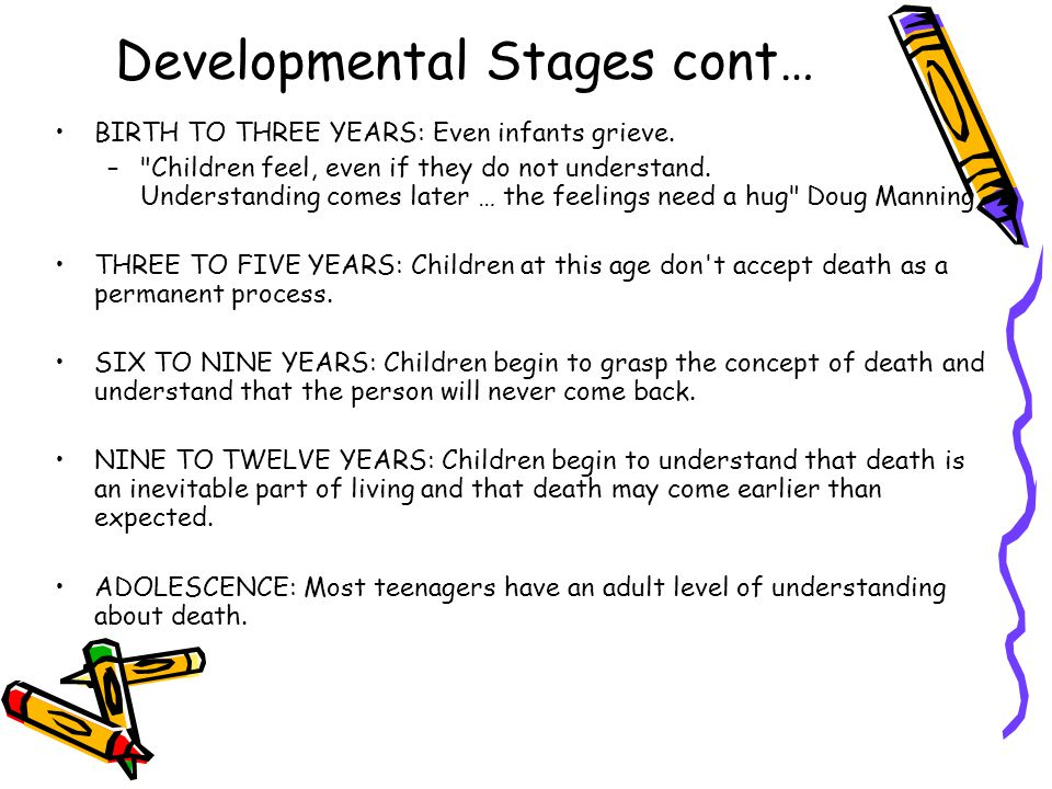 Developmental Stages cont…